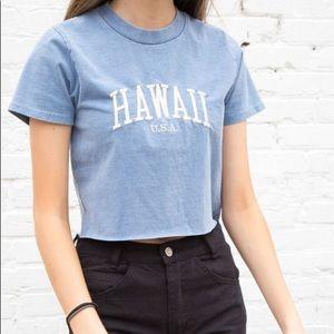 Brandy Melville Hawaii Helena Crop Tee Top One SZ